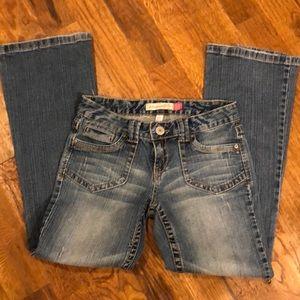 Aeropostale Hailey Skinny Flare Jeans in 5/6 short